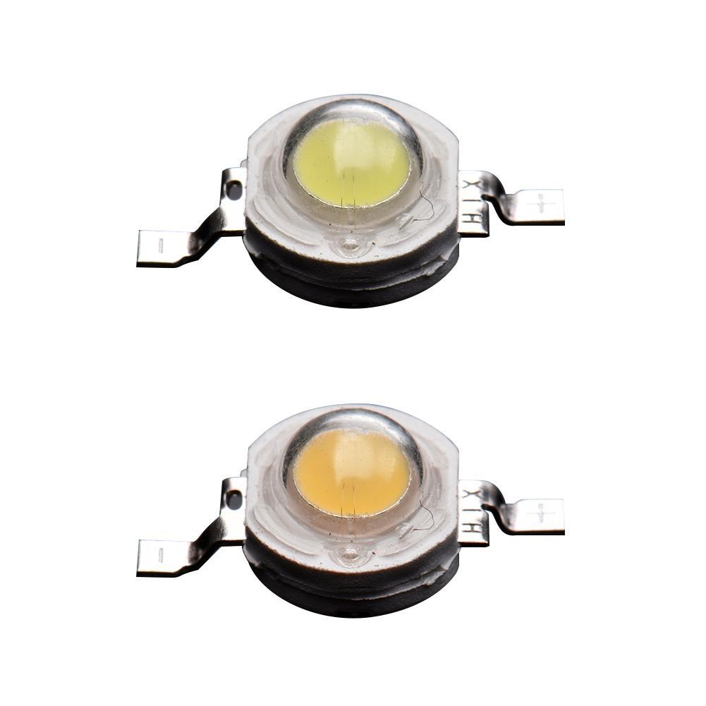 50pcs/Bag 1W 3.0-3.4V LED Lumens Lamp Beads High-power Aluminum Bracket Lamp Bead For DIY Flood Light