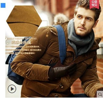 2019 hiver nouvelle laine col 90% canard vers le bas veste hommes affaires mode chaud épais court paragraphe bouffant manteau mâle marque vêtements - 3