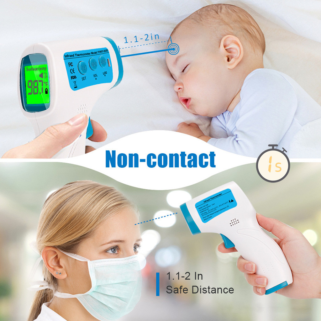 Infrared Thermometer Forehead Baby Non-contact Thermometer Body Temperature Adult Fever Digital Measure Device Termometro