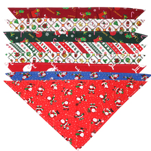 50X Sommer & Weihnachten Hund Katze Bandanas Schal Einstellbare Kinder/Baby Hunde Katzen Lätzchen Dreieckige Bogen Krawatten Hundesalon zubehör