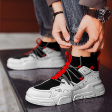 Men Casual Shoes Fashion High Top Sneakers Comfortable Trend