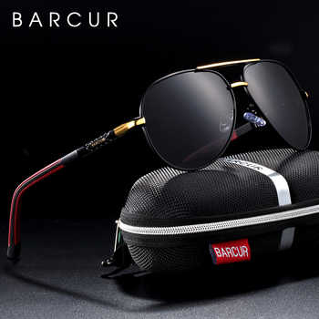 BARCUR Men Sunglasses Brand Original Polarized Driver glasses Polaroid Sun glasses Male Pilot Eyewear - DISCOUNT ITEM  60% OFF All Category