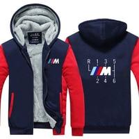 2019 New Motorcycle Jackets Winter Thicken male for bmw Sweatshirts for Men Winter hoodies zipper Coat
