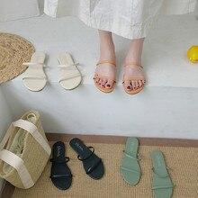 2020 году женщины лето вырезать дамы сандалии ladiessandals хорошее качество обуви на плоской подошве конфеты цвет открытый отдых слайдов 35 -39