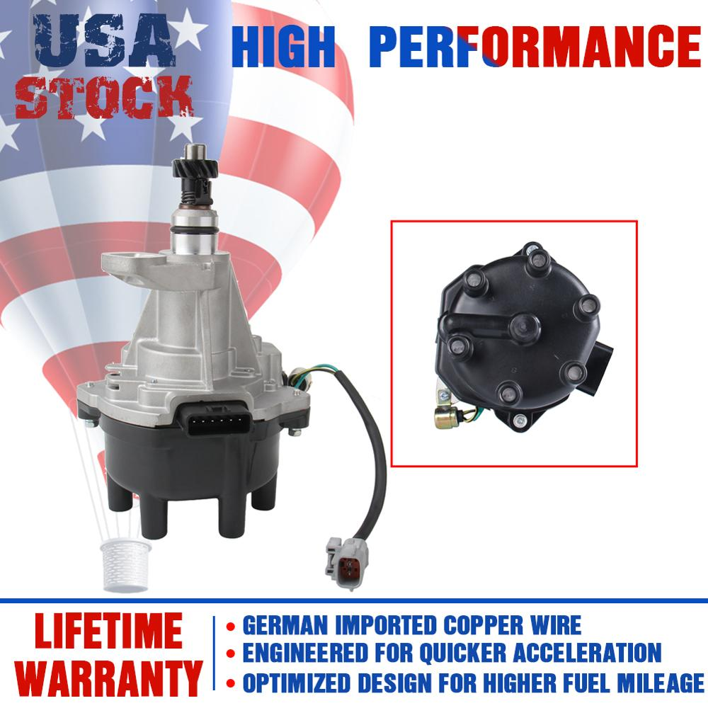 Ignition Distributor with Cap and Rotor for Nissan Pathfinder Frontier Quest Mercury Villager Infiniti QX4 3.3L 6V