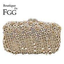 Boutique De FGGพราวดอกไม้คลัทช์Minaudiereกระเป๋าผู้หญิงคริสตัลEvening PARTYกระเป๋าและกระเป๋าถือกระเป๋า