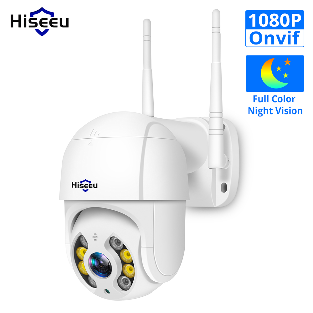 Hiseeu 1080P WIFI IP PTZ 2MP Camera Dome ONVIF Outdoor Waterproof Security Speed Camera SD Card Wireless IP Camera Remote View