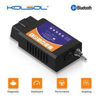 Kolsol elm327 scanner bluetooth obd2  v1.5 elm327 com interruptor modificado para ford ch340 + 25k80 chip HS-CAN / MS-CAN