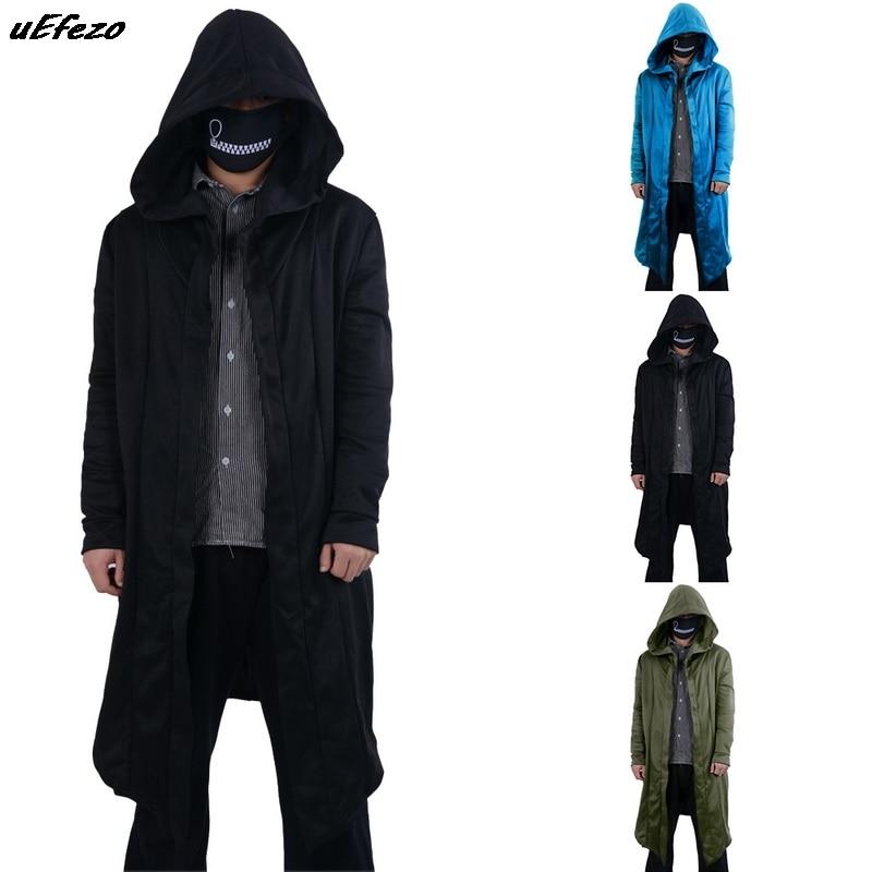 2020 New Fashion Men Hooded Sweatshirts Black Hip Hop Mantle Hoodies Fashion Jacket long Sleeves Cloak Coats Outwear Hot Sale