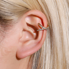 Ear-Cuff Earrings Jewelry Charming-Zircon Clip On Women Without for 1pcs Piercing