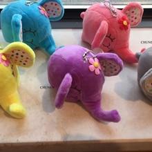 Средний 12 см, 5 цветов-милый слон, плюшевая игрушка, маленькие детские игрушки на цепочке для ключей, куклы