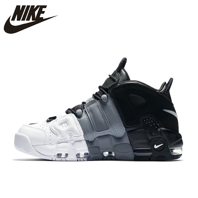 Nike Shoes Sneakers Basketball-Shoes Outdoor More Uptempo Sports Authentic New-Arrival