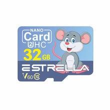 128G TF Karte Speicher Karte C10 V60 U3 32G 64G Smart Karte Mit SD Karte Adapter Cartoon stil Große Kapazität TF Karte Speicher Karte