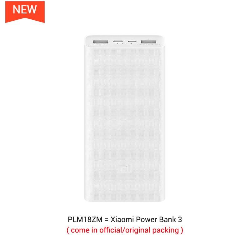 20000 мАч Mi Power Bank 2C Поддержка двусторонней Быстрая Зарядка QC3.0 для Мобильных Телефонов с двойным USB выходом - Цвет: Official Standard