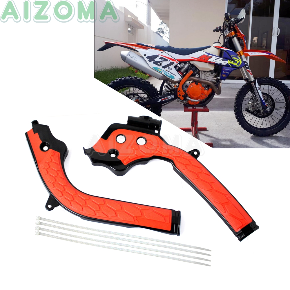 2pcs Racing Motocross Frame Cover Guards For KTM SXF SX EXC EXC-F 125/<font><b>250</b></font>/300/350/450 2016-17 2018 <font><b>Enduro</b></font> Frameguards Protector image