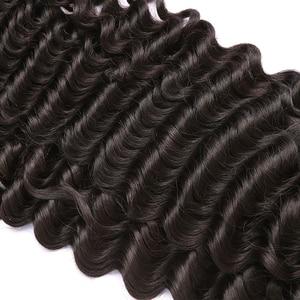 Image 5 - لعبة البوكر وجه موجة عميقة 8 30 بوصة البرازيلي غير شعر ريمي لون الطبيعة 100% الشعر البشري النسيج نسج المياه 3 4 حزم مزدوجة تعادل