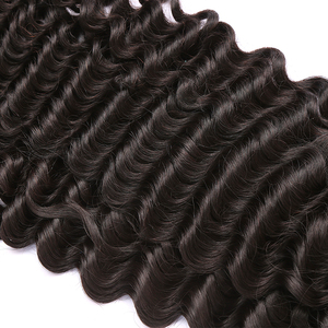 Image 5 - Poker Face Deep Wave 8 28 30 Inches Brazilian Remy Hair 100% Human Hair Weaving Water Weave 3 4 Bundles Double Drawn Curly
