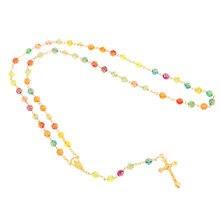 Женская подвеска в виде Креста Иисуса Розария роза цветок 6