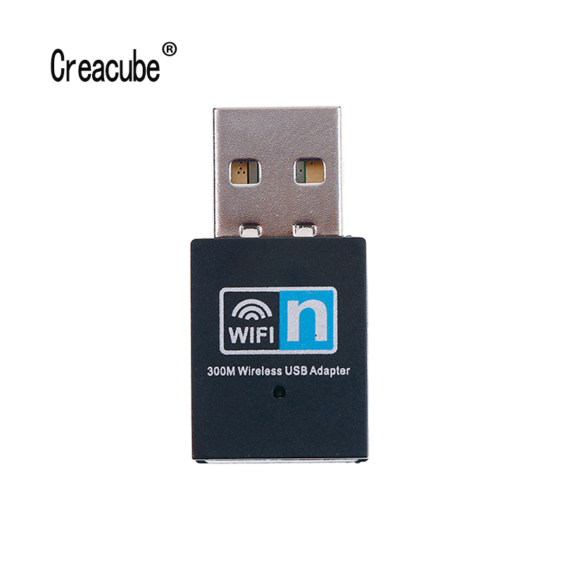 Creacube Mini 300M USB Wifi Dongle WiFi Adapter Wireless Wifi Dongle Network Card 802.11 N/g/b Wi Fi LAN Adapter
