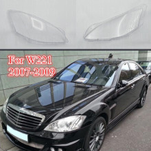 Car Clear Lampshade for W221 S300 S350 S400 S500 S600 Headlight Transparent Glass Lens Cover 07-09 Auto Shell Replacement DIY