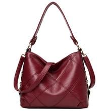 2019 Elegant Ladies Hand Bags Tote Soft Leather Handbags Women Designer Fashion Shoulder Crossbody for