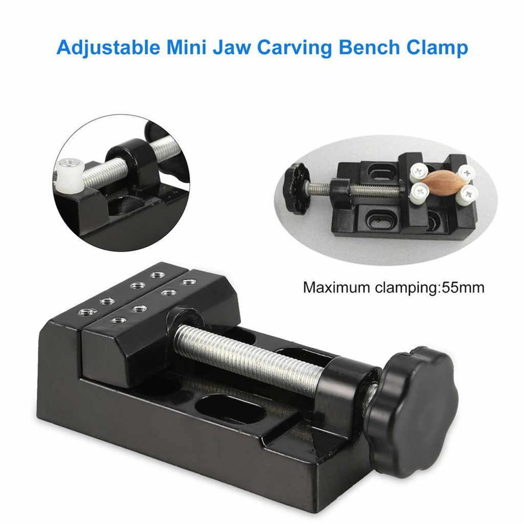 Abrazadera de hobby miniatura en tornillo de banco de mesa herramienta vicio Muliti-Mesa funcional vicio abrazadera de banco para tallar taladro prensa plana vicio # Y5