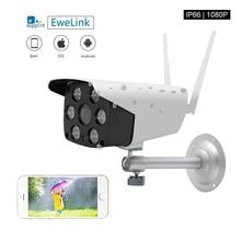 EWeLink водонепроницаемая IP камера Smart IOT камера HD 1080P наружная двусторонняя аудиосвязь с ночным видением ИК светодиодная камера