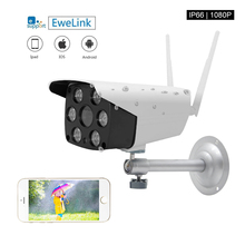 EWeLink كاميرا ip مقاومة للمياه الذكية IOT كاميرا HD 1080P في الهواء الطلق اتجاهين الصوت الداخلي للرؤية الليلية الأشعة تحت الحمراء كاميرا ليد