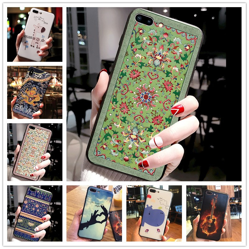 For Huawei Honor 9X Global Case Emboss 3D Print Cool Silicone Soft Cover For Huawei Y9S / Honor 9X Chinese Version Cover Nova 5