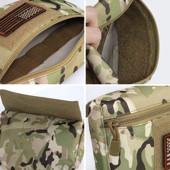Tactical Dump Drop Pouch, Armor Carrier Drop Pouch Hunting EDC Utility Bag Combat Gear  for AVS JPC CPC AVS Tactical Vest 4