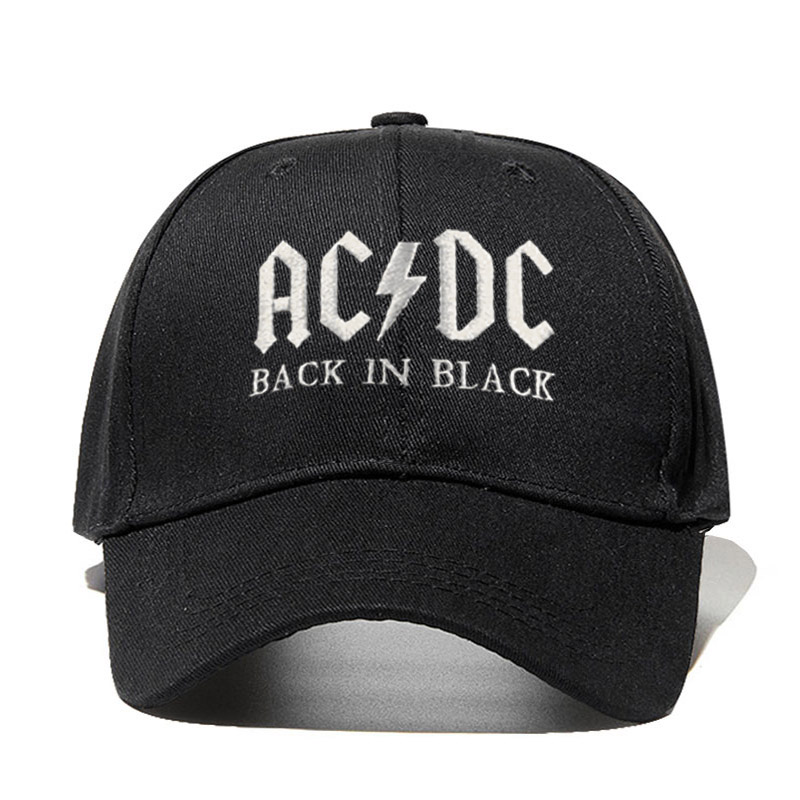 New AC/DC band   baseball     cap   rock hip hop   cap   Mens acdc snapback hat Embroidery Letter Casual DJ ROCK dad hat Dropshipping
