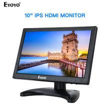 цена на Eyoyo 10.1 Inch IPS LCD Monitor 1280x800 with HDMI VGA BNC AV Input for PC CCTV Display Security Monitor
