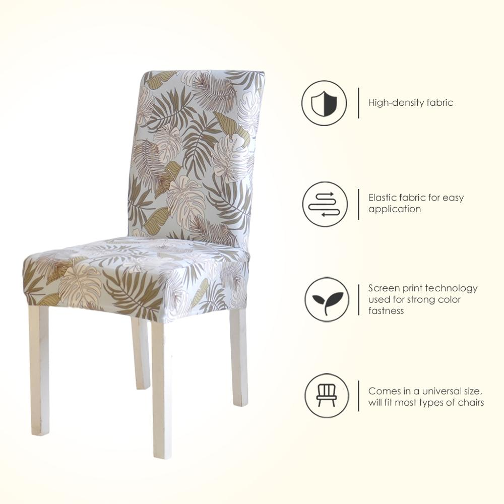 Printed Chair Cover Elastic Seat Chair Covers Removable And Washable Stretch Banquet Hotel Dining Room