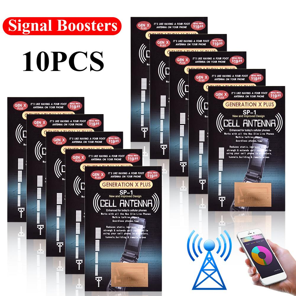 10 Pcs/Lot Cell Phone Signal Boosters Antenna Improve Stickers Outdoor Camping Tools Mobile Phone Signal Enhancement For Gen X