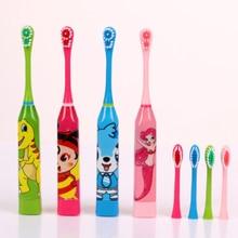 Детская зубная щетка с мультипликационным рисунком, двухсторонняя зубная щетка, сменная зубная щетка, детская зубная щетка