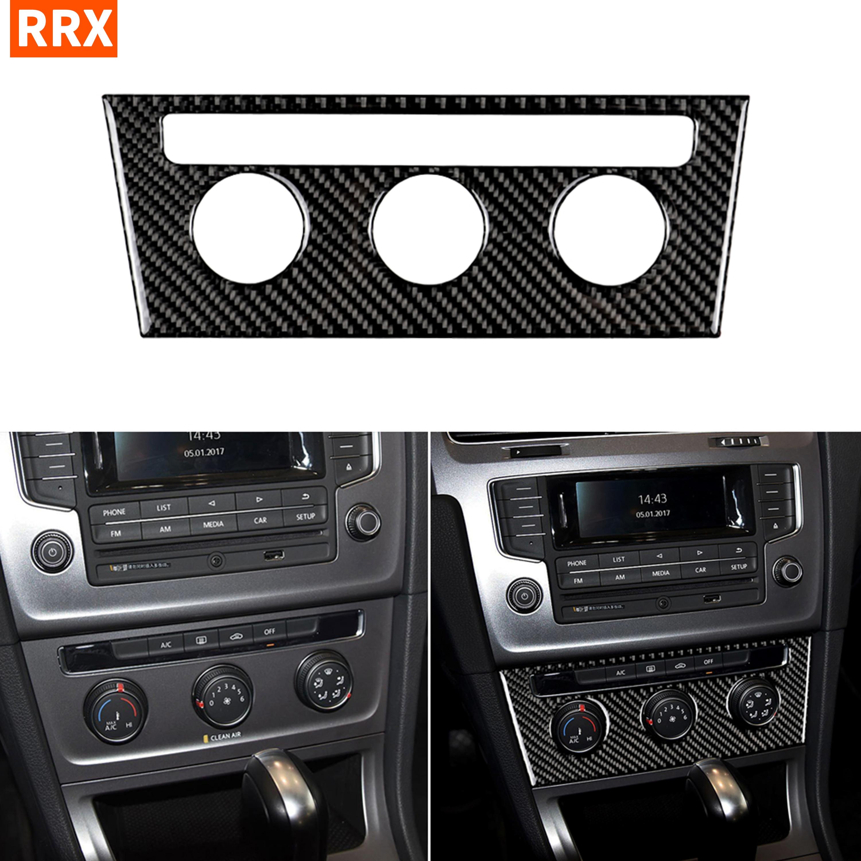 Для VW Golf 7 GTI R GTE GTD Mk7 2013-2017 панель кондиционера наклейка центральная консоль переключатель кнопка Крышка отделка Стайлинг автомобиля