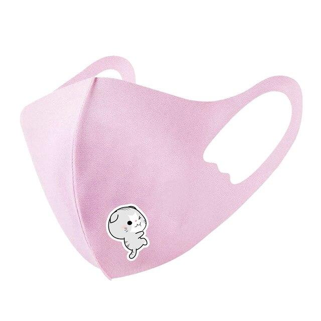Kids Boys Girls Cotton Washable Face Mask Adjustable Filter Cartoon Children Mouth Mask Dustproof Windproof Mouth Mask 3