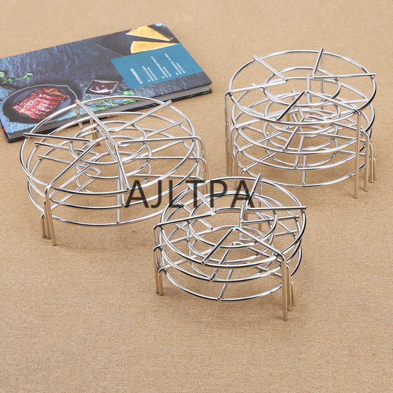 50pcs/lot Steamer Shelf Cookware Kitchen Tool Multifunction Durable Steamer Rack Stainless Steel Pot Steaming Stand CT0457