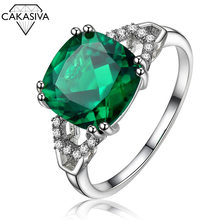 SAPPHIRE RING 925 Silver Color RUBY EMERALD RING(China)