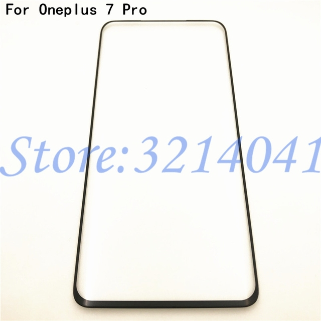 """Original Front Glass 6.67"""" For Oneplus 7 Pro One Plus 7 Pro Oneplus7 Pro Touch Screen LCD Outer Panel Lens Replacement Part"""