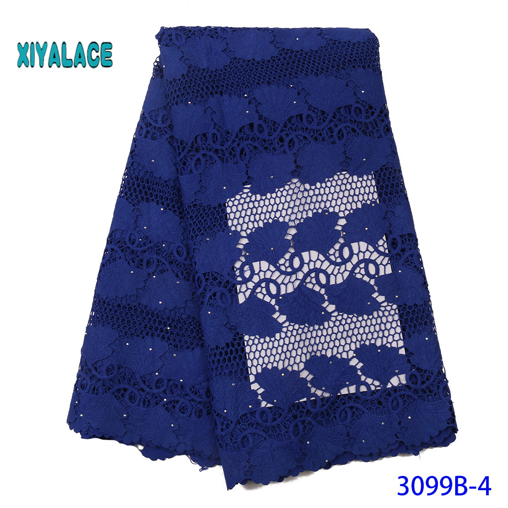 High Quality Swiss Voile Laces In Switzerland Cotton African Dry Cotton Lace Fabric Nigerian Man Voile Lace 5Yards YA3099B-4