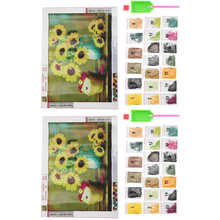 Ręcznie malowany obrazek haft ręczny dziewczyna prezent malarstwo kolorowy wystrój pokoju dla kawiarni matka artykuły domowe dla dziewcząt tanie tanio TOPINCN CN (pochodzenie)
