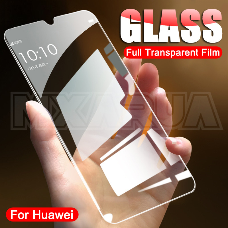 9H Full Cover Tempered Glass For Huawei Mate <font><b>30</b></font> 20 <font><b>10</b></font> Lite 20X Glass Screen Protector Huawei P40 Lite E P Smart Z Glass Film image
