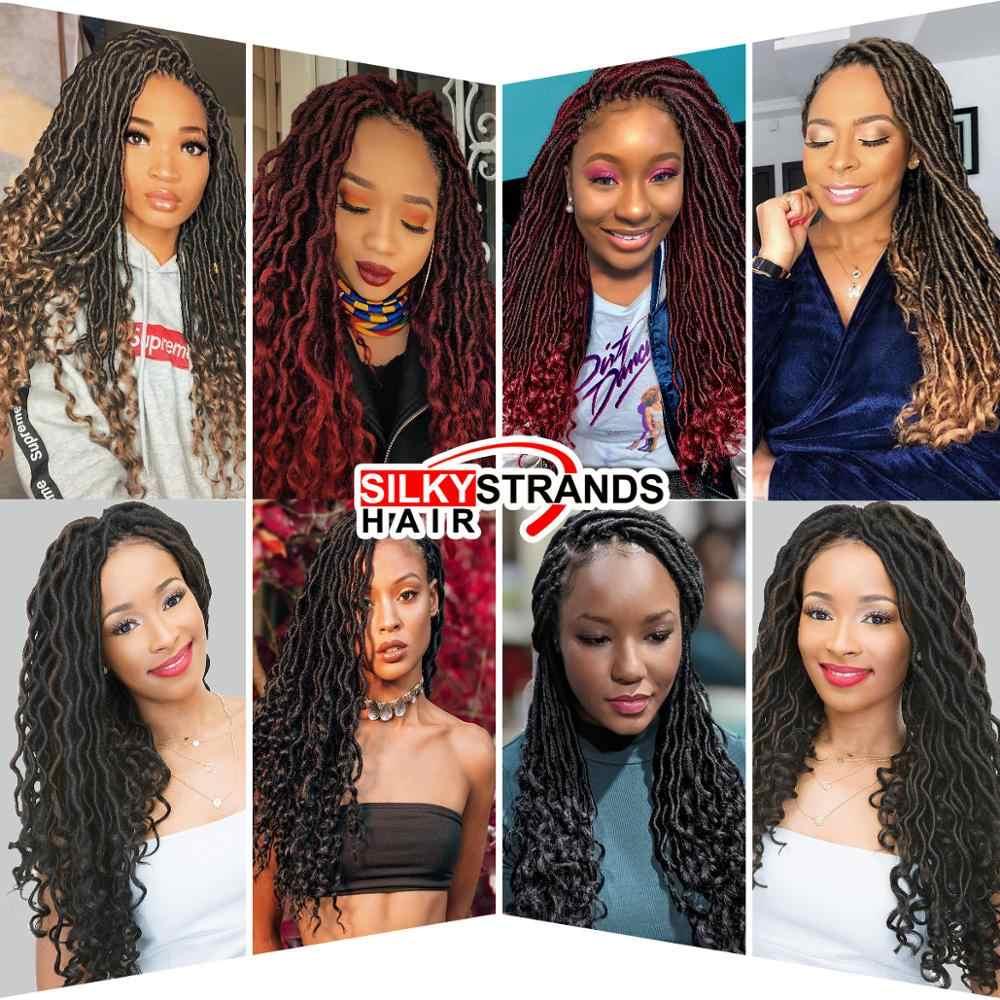 Extensiones de cabello de ganchillo con hebras sedosas, trenzas de ganchillo con trenzas de pelo sintético a granel, trenzas bohemias Ombre