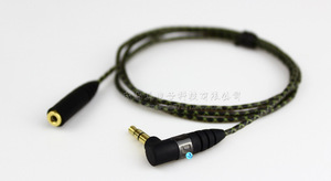Image 1 - 1m באיכות גבוהה החלפת הארכת סטריאו אודיו כבל כבל עבור Sennheiser IE800 כלומר 800 אוזניות אוזן ניצן