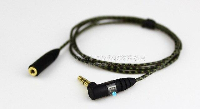 1m באיכות גבוהה החלפת הארכת סטריאו אודיו כבל כבל עבור Sennheiser IE800 כלומר 800 אוזניות אוזן ניצן