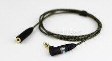 1m de alta qualidade substituição extensão cabo áudio estéreo para sennheiser ie800 ie 800 fone ouvido da orelha bud
