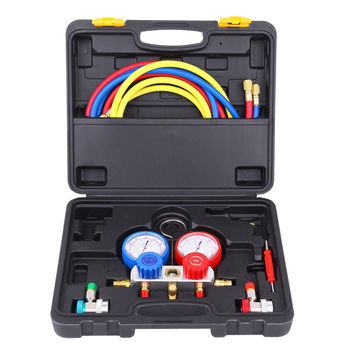 Samger A/C Manifold Gauge Set for R134a R22 R410a R404a Air Conditioning Tools Gauges with 5FT Hose ,Connectors And Storage Case all things cedar af90u s 5ft swing with a frame set