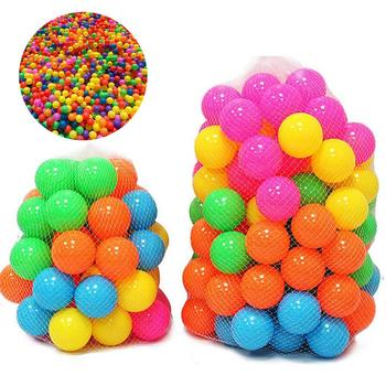 100 sztuk ekologiczne kolorowe miękkie tworzywo sztuczne basen z wodą fala oceaniczna piłka śmieszne zabawki dla dzieci stres Air Ball zabawa na świeżym powietrzu sport Hot tanie i dobre opinie Unisex Piłka doły 30001553 Z tworzywa sztucznego 3 lat