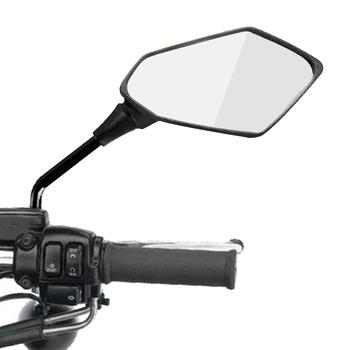 2 sztuk para lusterko wsteczne motocyklowe skuter e-bike lusterka wsteczne tylna strona wypukłe lustro 8mm 10mm z włókna węglowego tanie i dobre opinie EAFC Motorcycle Rear View Mirror Lusterka boczne i akcesoria